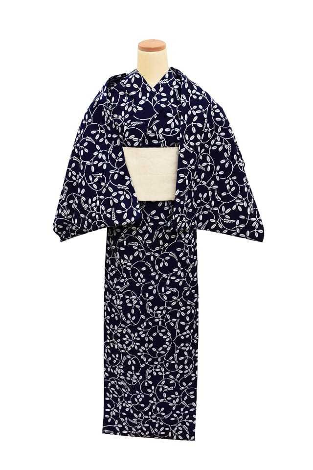 【反物】女性 『コーマ地染』萩小紋