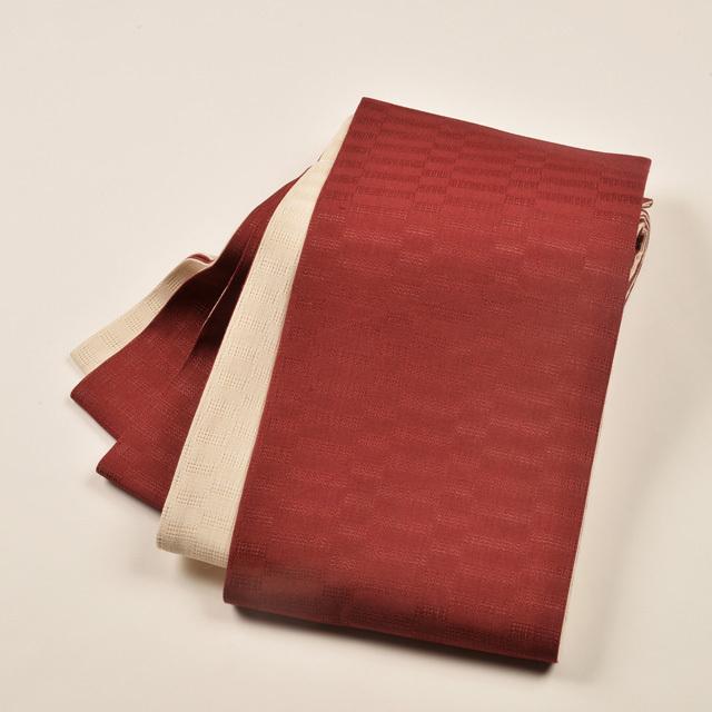 女性・麻市松半巾/臙脂×生成