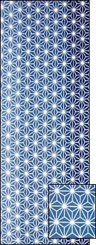 麻の葉(青)