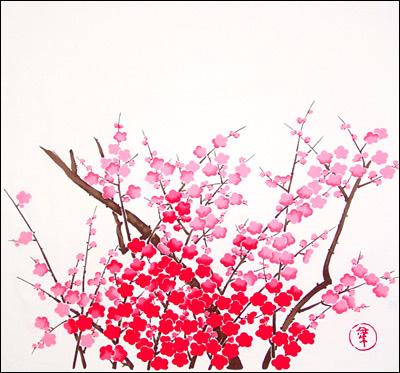 【お膳掛】紅梅