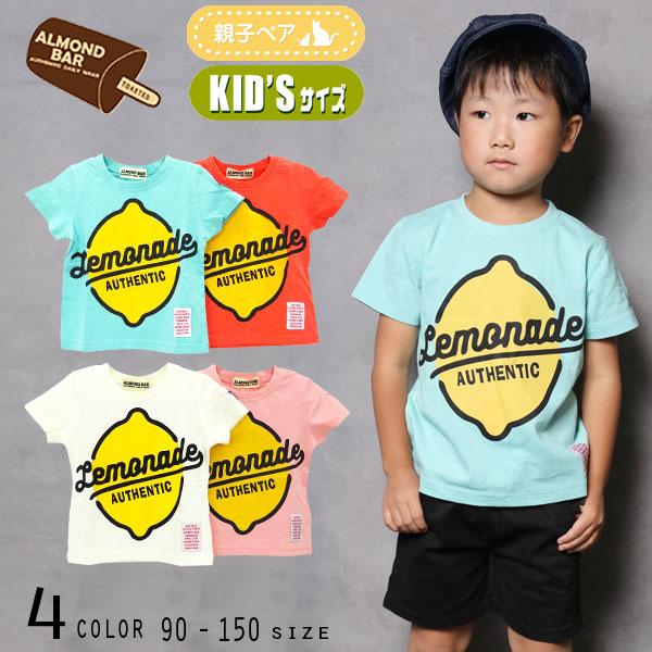 【2021夏物新作】ALMOND BAR(アーモンドバー)レモネードプリント半袖Tシャツ【メール便送料無料】