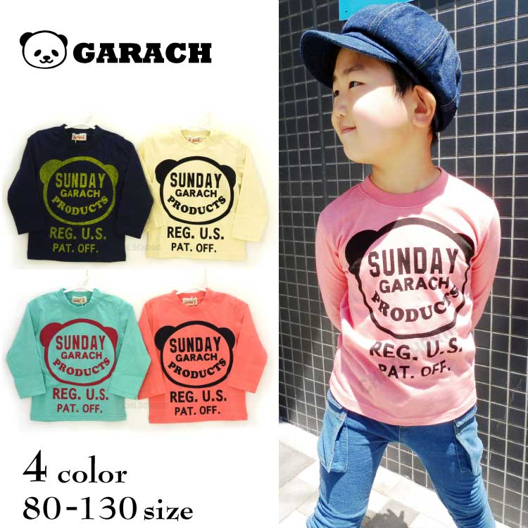 【SALE!!30%OFF!!】GARACH(ギャラッチ)SUNDAYパンダ長袖Tシャツ【メール便可能】