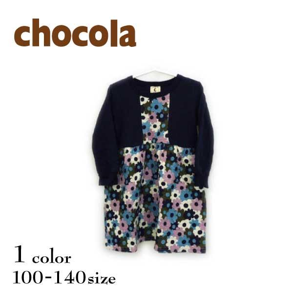 【SALE!20%OFF!!】chocola(ショコラ)花柄切替ワンピース【メール便送料無料】