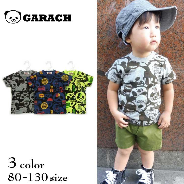 【SALE!!50%OFF!!】GARACH(ギャラッチ)パンダ総柄半袖Tシャツ【メール便可能】
