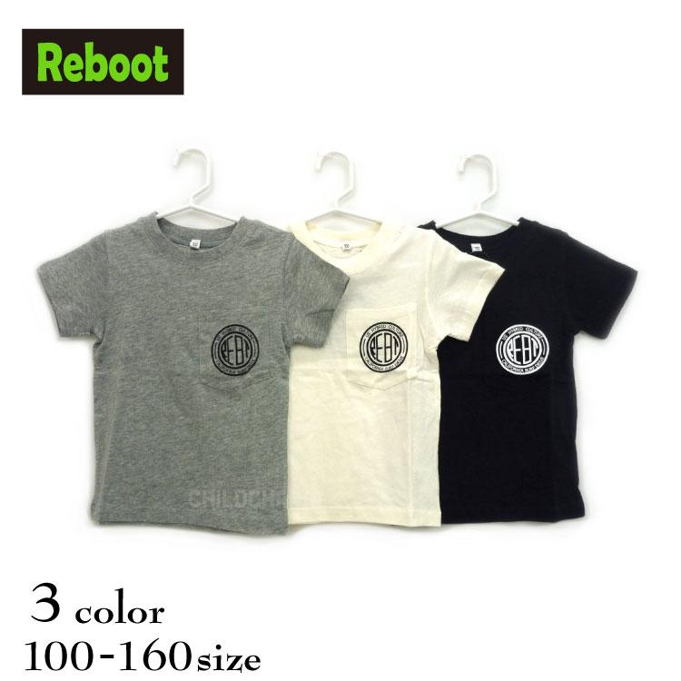【SALE!!50%OFF!!】Reboot(リブート)ポケットロゴ入り半袖Tシャツ【メール便可能】