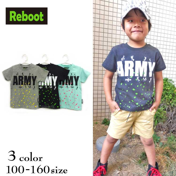 【SALE!!50%OFF!!】Reboot(リブート)ARMY&Antプリント半袖Tシャツ【メール便可能】