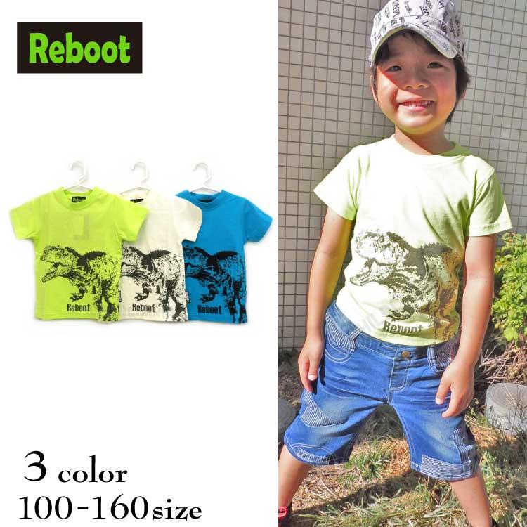 【SALE!!50%OFF!!】Reboot(リブート)ダイナソープリント半袖Tシャツ【メール便可能】