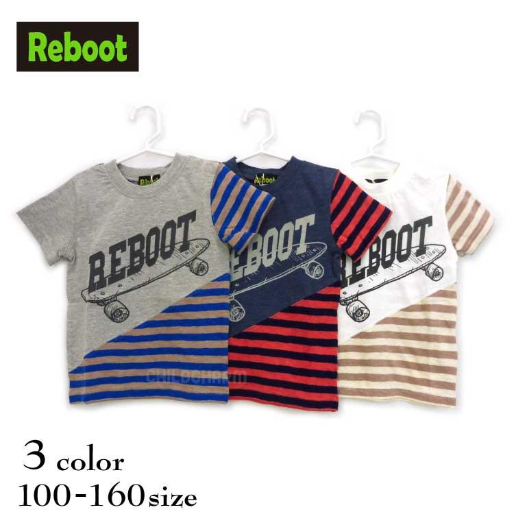 【SALE!!50%OFF!!】Reboot(リブート)ボーダー切替半袖Tシャツ【メール便可能】