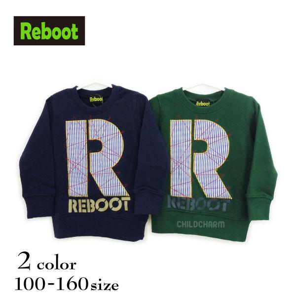"""【2018秋冬物新作♪】Reboot(リブート)""""R""""ロゴトレーナー【130サイズまでメール便送料無料】"""