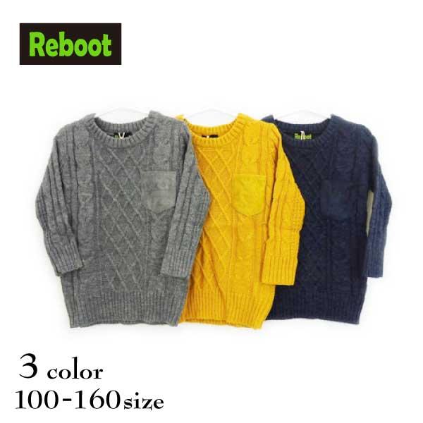 【SALE!50%OFF!!】Reboot(リブート)ポケット付きニットセーター【メール便不可!!】