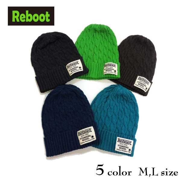 【2018秋冬物新作♪】Reboot(リブート)ロゴワッペン付きニット帽【メール便可能】