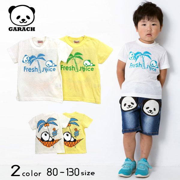 【50%OFFSALE】GARACH(ギャラッチ)Fresh Juiceパンダ半袖Tシャツ【メール便可能】