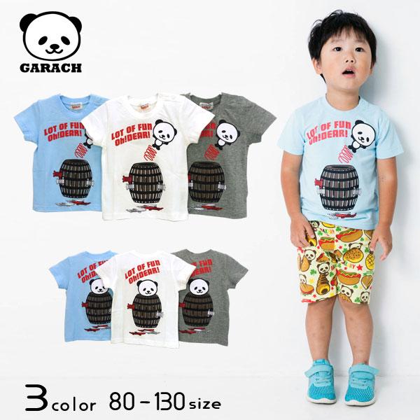 【50%OFFSALE】GARACH(ギャラッチ)パンダ危機一髪半袖Tシャツ【メール便可能】