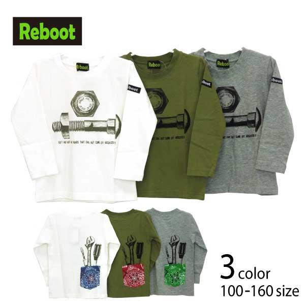【SALE!30%OFF!!】Reboot(リブート)工具プリント長袖Tシャツ【メール便送料無料】