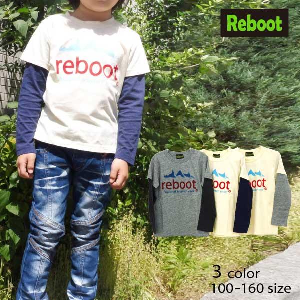 【SALE!30%OFF!!】Reboot(リブート)ロゴプリントレイヤードTシャツ【メール便送料無料】