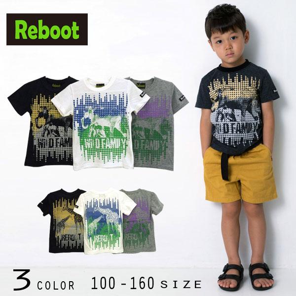 【30%OFFSALE】Reboot(リブート)アニマルプリント半袖Tシャツ【メール便送料無料】