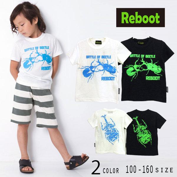 【50%OFFSALE】Reboot(リブート)カブトムシプリント半袖Tシャツ【メール便可能】