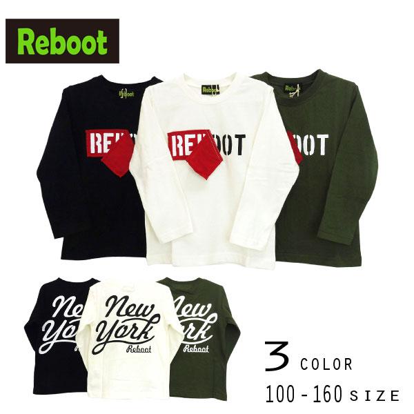 【2019秋物新作】Reboot(リブート)ロゴ長袖Tシャツ【メール便送料無料】