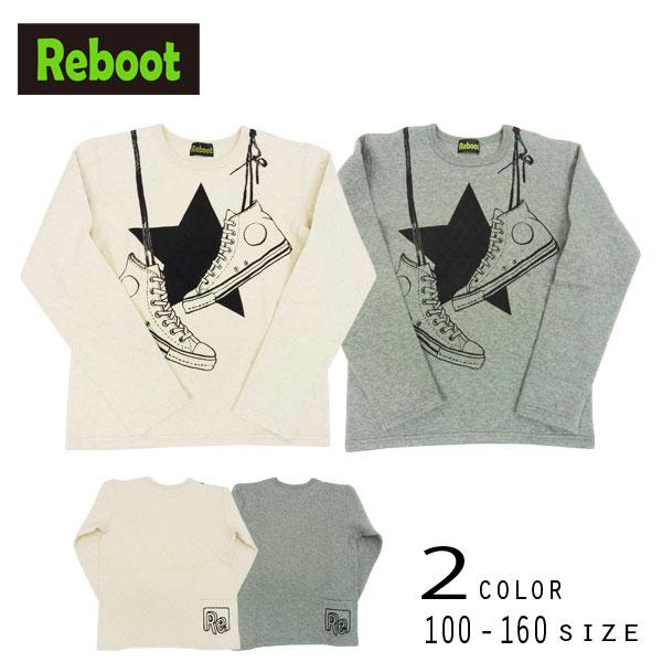 【2019秋物新作】Reboot(リブート)スニーカープリント長袖Tシャツ【メール便送料無料】