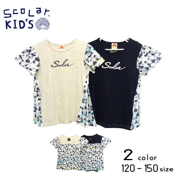 【2019夏物新作♪】ScoLar(スカラー)ロゴプリント切替チュニックTシャツ【メール便可能】