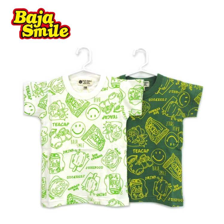 【2018夏物新作♪】Baja Smile(バハスマイル)スイーツ柄半袖Tシャツ【メール便可能】