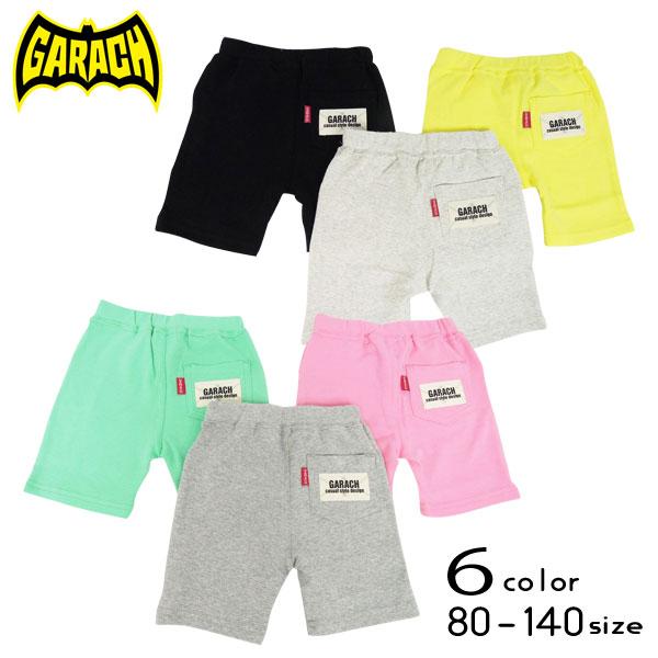 【50%OFFSALE】GARACH(ギャラッチ)ロゴワッペン付き5分丈パンツ【メール便可能】