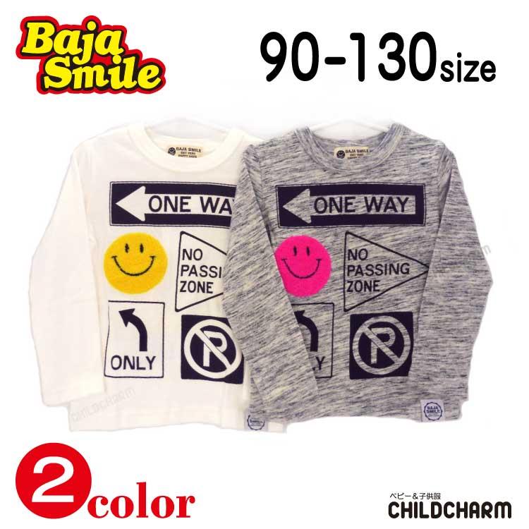 Baja Smile(バハスマイル)スマイル標識長袖Tシャツ【メール便可能】