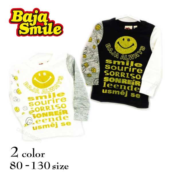 【2018秋冬物新作♪】 Baja Smile(バハスマイル)世界のスマイル長袖Tシャツ【メール便可能】