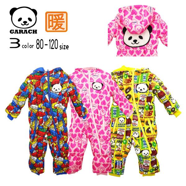 【15%OFFSALE】GARACH(ギャラッチ)パンダ&総柄ジャンプスーツ【メール便不可】