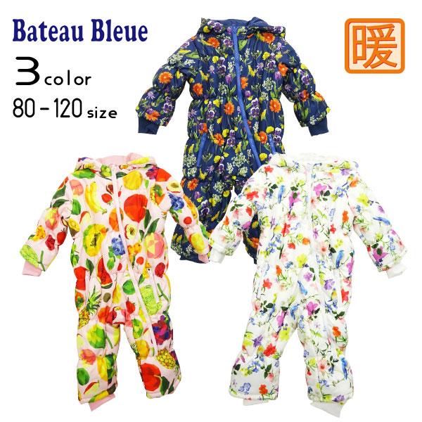 【2020秋冬新作】Bateau Bleue(バトーブルー)総柄ジャンプスーツ【メール便不可】