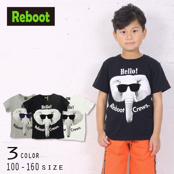 【50%OFFSALE】Reboot(リブート)ゾウプリント半袖Tシャツ【メール便可能】