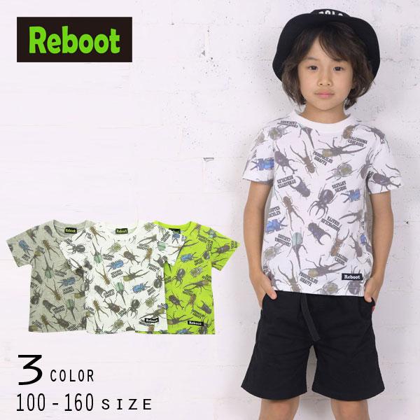 【50%OFFSALE】Reboot(リブート)昆虫総柄プリント半袖Tシャツ【メール便可能】