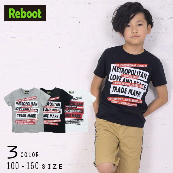 【30%OFFSALE】Reboot(リブート)テープ&ロゴ半袖Tシャツ【メール便送料無料】