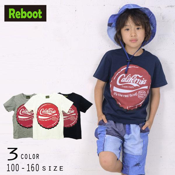 【50%OFFSALE】Reboot(リブート)クラウンキャッププリント半袖Tシャツ【メール便可能】