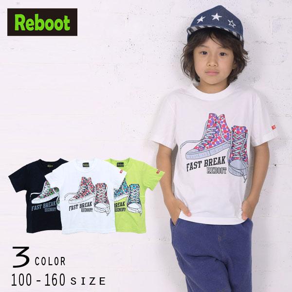 【30%OFFSALE】Reboot(リブート)スニーカープリント半袖Tシャツ【メール便送料無料】