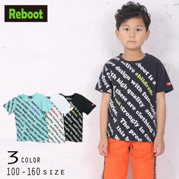 【50%OFFSALE】Reboot(リブート)ロゴ刺繍&プリント半袖Tシャツ【メール便可能】