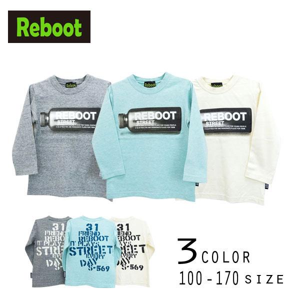 【2020秋物新作】Reboot(リブート)ボトルプリント長袖Tシャツ【メール便送料無料】
