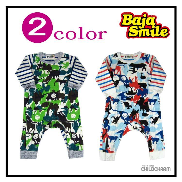 【SALE!!30%OFF!!】Baja Smile(バハスマイル)アニマル迷彩柄カバーオール【メール便可能】