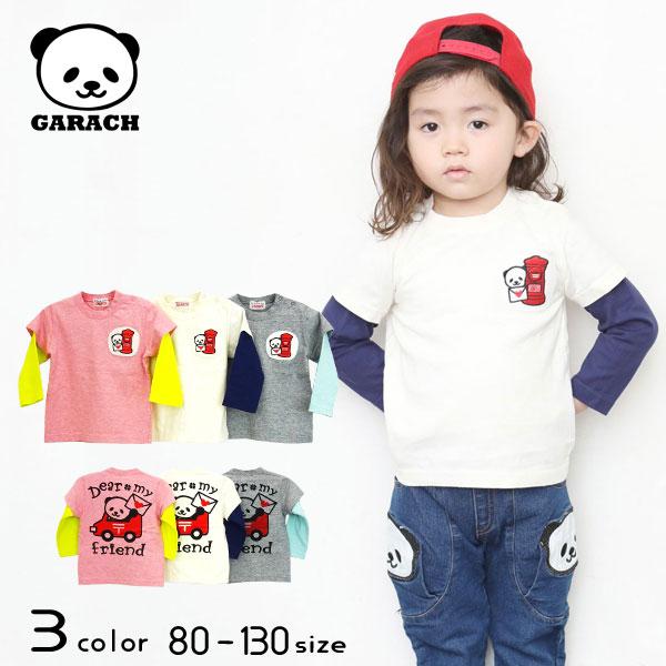 【30%OFFSALE】GARACH(ギャラッチ) 郵便パンダレイヤードTシャツ【メール便送料無料】