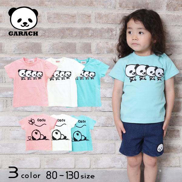 【2021夏物新作】GARACH(ギャラッチ)整列パンダ半袖Tシャツ【メール便送料無料】