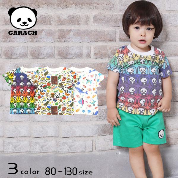 【2021夏物新作】GARACH(ギャラッチ)総柄パンダ半袖Tシャツ【メール便送料無料】