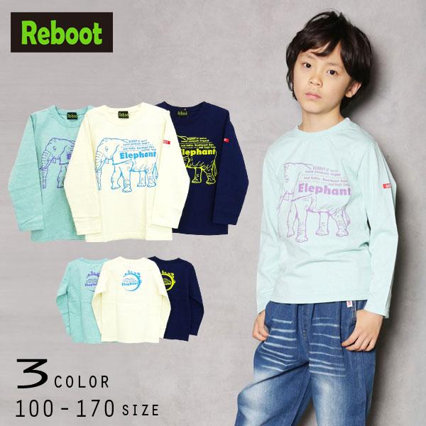 【30%OFFSALE】Reboot(リブート)Elephant長袖Tシャツ【メール便送料無料】