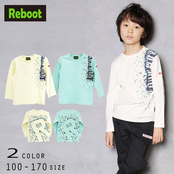 【30%OFFSALE】Reboot(リブート)ロゴ&星柄プリント長袖Tシャツ【メール便送料無料】