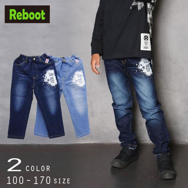 【2021春物新作】Reboot(リブート)テーパードデニムパンツ【メール便送料無料】