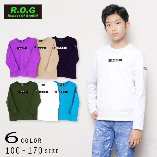 【2021秋物新作】R.O.G Reboot(リブート)ロゴ入りシンプル長袖Tシャツ【メール便送料無料】