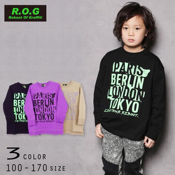 【2021秋物新作】R.O.G Reboot(リブート)ロゴプリント長袖ビックTシャツ【メール便送料無料】