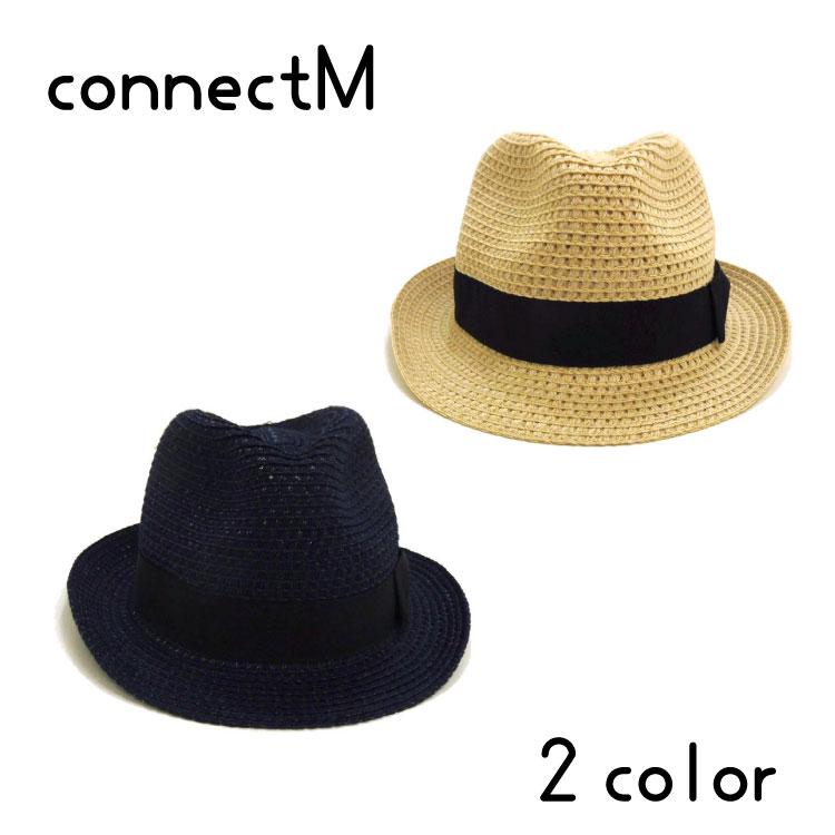 【洗えるブレード♪】connect M(コネクトエム)リボン付きハット【メール便不可!!】