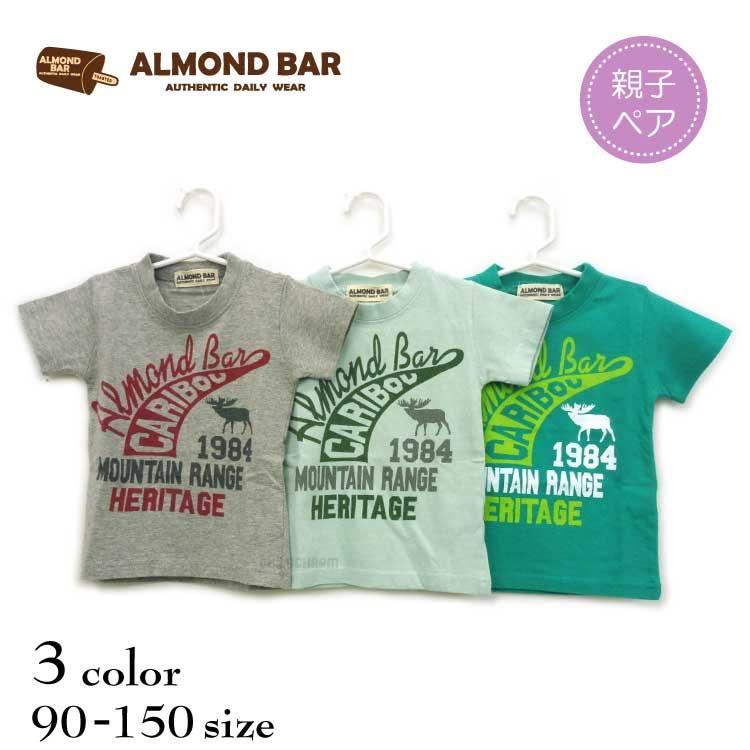 【SALE!!50%OFF!!】ALMOND BAR(アーモンドバー)CARIBOUプリント半袖Tシャツ【メール便可能】
