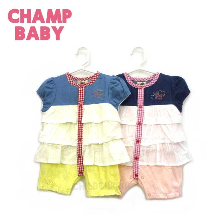【2018春夏物新作♪】CHAMP BABY(チャンプベビー)フリルワンピースカバーオール(70cm)【メール便可能】