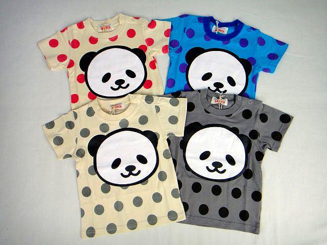 【SALE】GARACH(ギャラッチ)ドット柄パンダ半袖Tシャツ☆160サイズ【メール便可能】